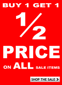 Buy one get one half price on all sale items