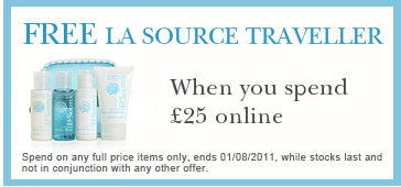 Free La Source Traveller when you spend £25 or more on full price items