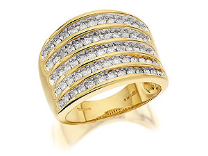 9ct Gold Carat Diamond Band Ring