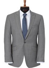 AR RED Grey Sharkskin Suit