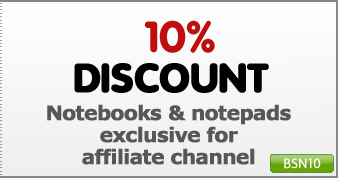 10% Discount Off Notebooks & Notepads