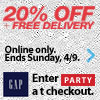 20% off and free delivery