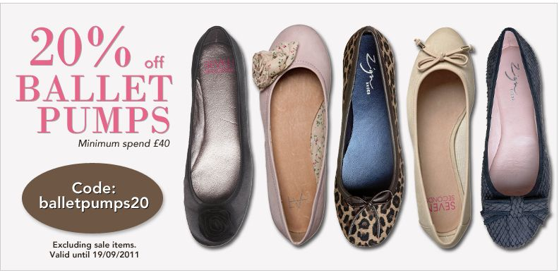 20% off ballet pumps over £40