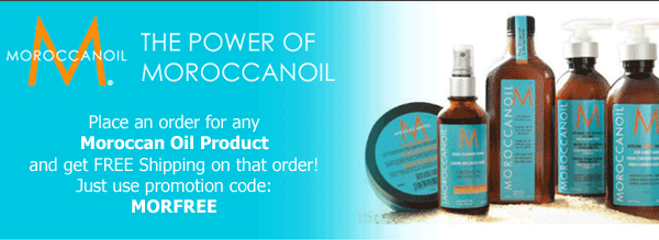 Get free shipping on MoroccanOil