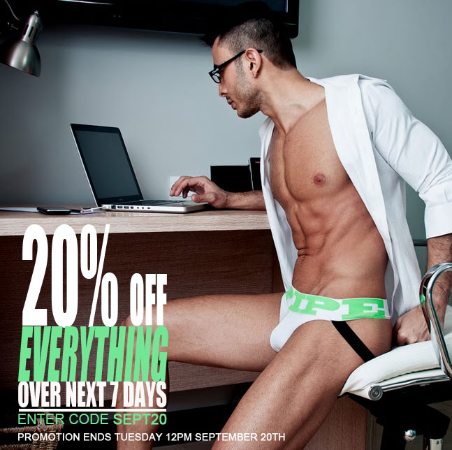 Get 20% off all items