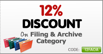 Get 12% off filing and archive category
