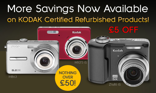 Save £5 on KODAK Refurbished Digital Camera