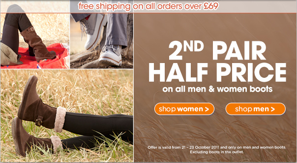 Buy One Get One Half Price On Adult Winter Boots