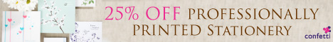 25% off professionally printed wedding stationery