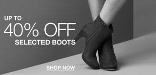 Up to 40% off selected Shoes and Boots