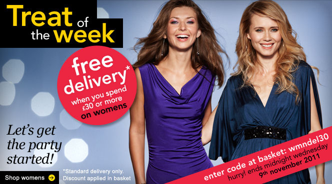 Free delivery on womenswear