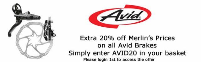 20% off all Avid brakes