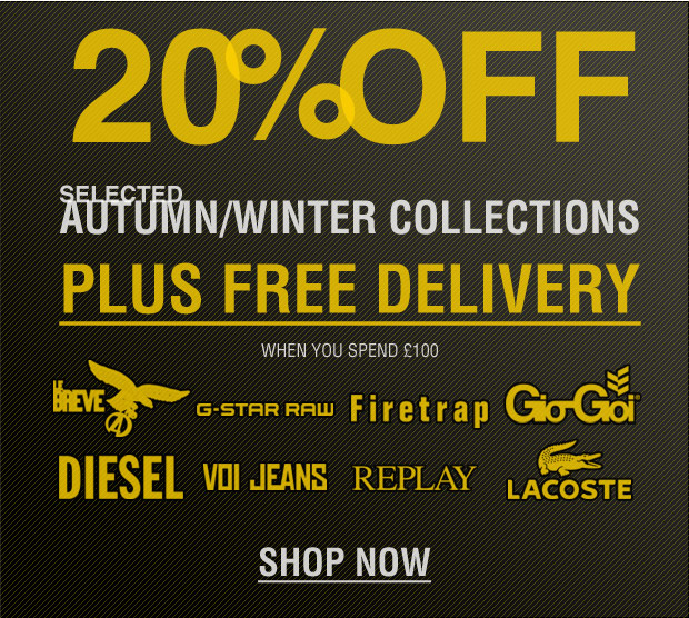 20% Off + FREE Delivery