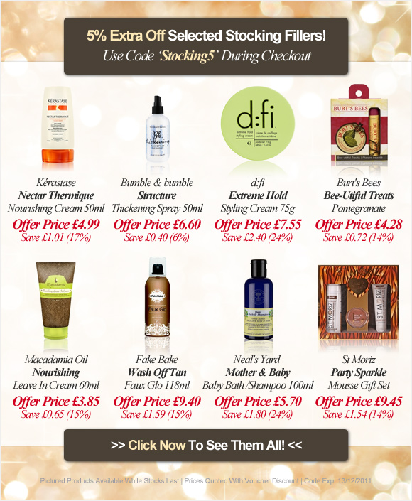 5% Extra Off Selected Stocking Fillers