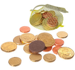 Free Chocolate Coins With All Unwrapped Gifts