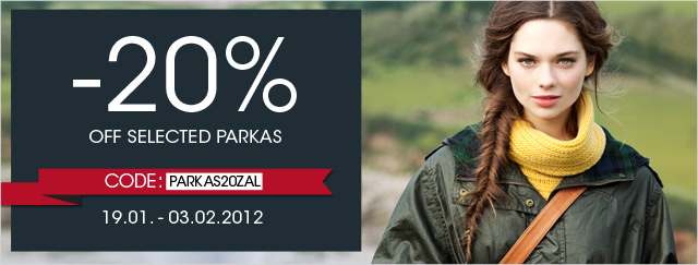 20% off selected parkas