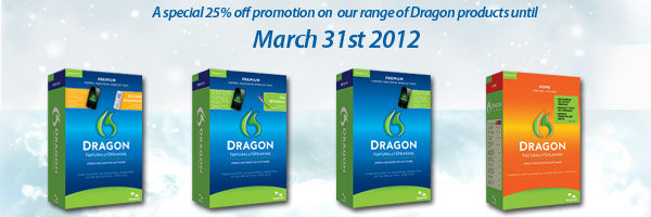 25% Off range of Dragon products