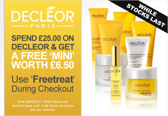 Receive a free 'mini' worth £6.5