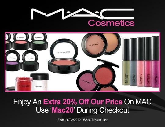 20% Off MAC Cosmetics