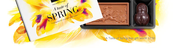 FREE Taste of Spring chocolate box worth £7.5