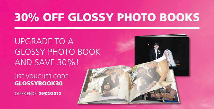 30% off glossy photo book all sizes
