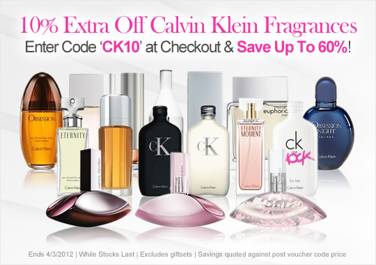 10% Extra Off Calvin Klein Fragrances