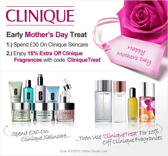 15% off Clinique Fragrances