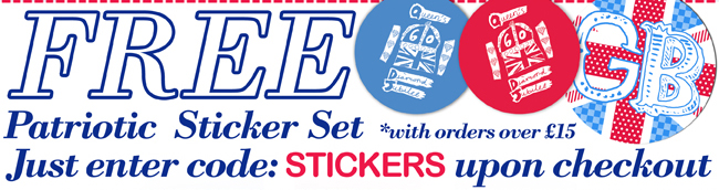 Free Sticker Set with Orders over £15