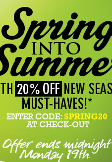 20% off New Season Must Haves