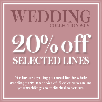 20% off the Wedding Collection
