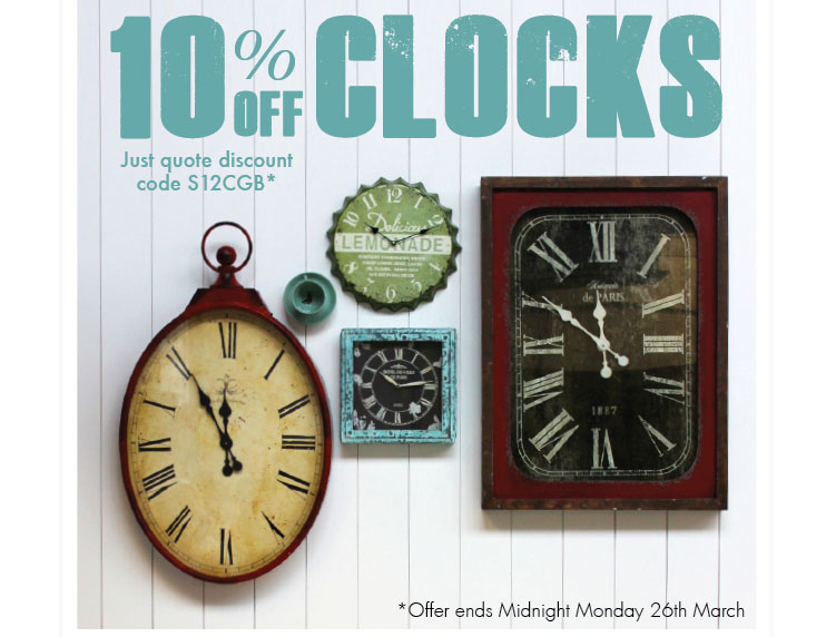 10% off clocks