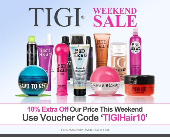10% off all TIGI goodies