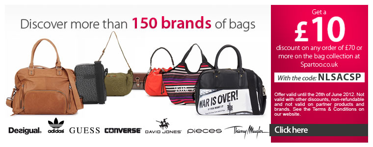 Save £10 on orders over £70 from the bag collection