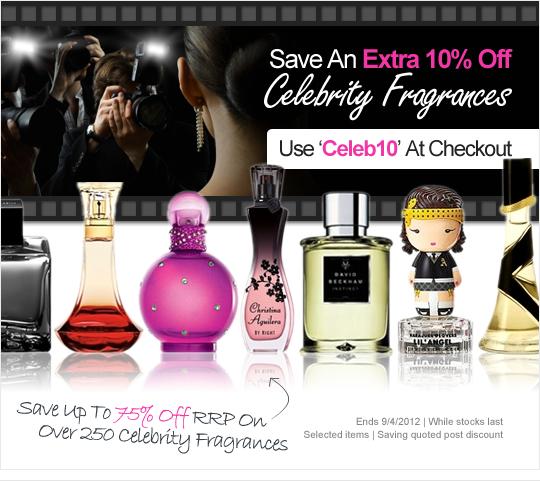 10% Extra Off Celebrity Fragrance