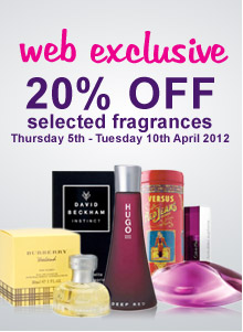 20% off selected fragrances