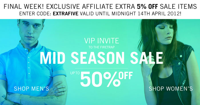 Extra 5% off sale items