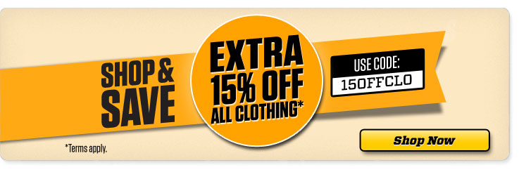 Additional 15% off clothing