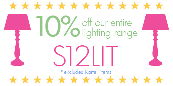 10% off the entire lighting range