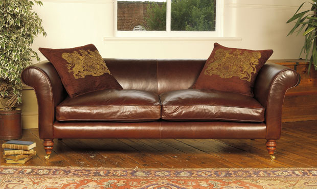 £150 off the Chequers Leather Sofa