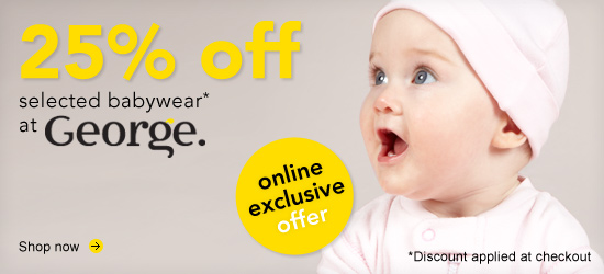 25% off selected babywear