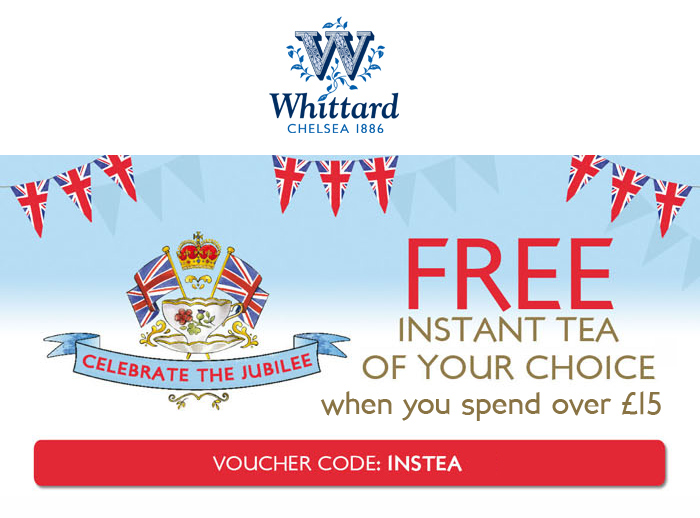 FREE Instant Tea of your choice when you spend £15