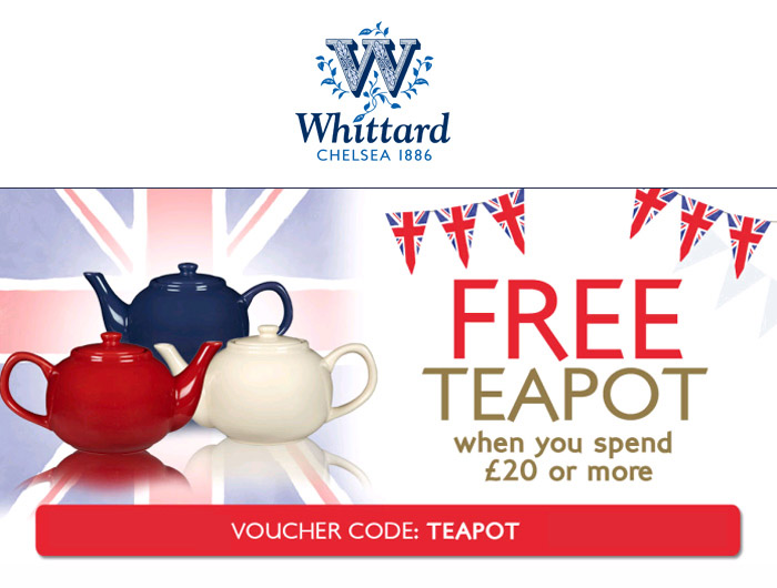Free teapot when you spend £20