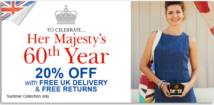 20% off + Free Standard Delivery + Free Returns