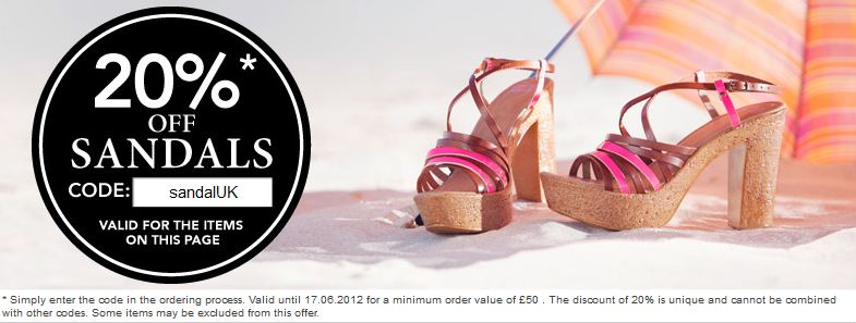 20% off selected sandals