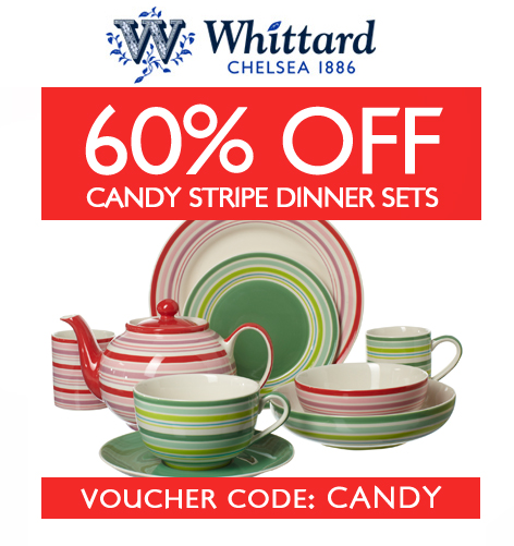 60% OFF Candy Stripe Dinner Sets