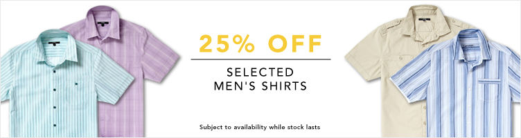 Save 20% off all Men's Shirts