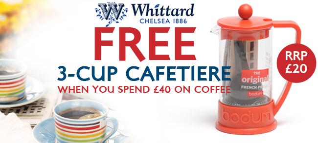 FREE Bodum Cafetiere worth £20