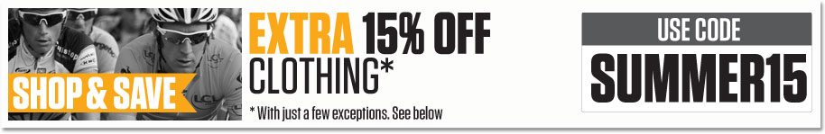 15% off all Clothing