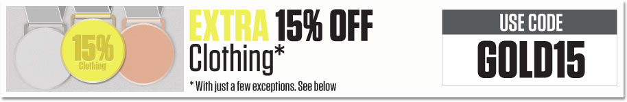 EXTRA 15% OFF clothing