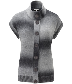 Grey Space Dye Chunky Cardigan